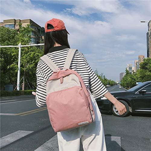 Bolsos Lona Mochilas Coreana Ocio para De Mujer JIA Estudiantes Bolsa HONG Universitarias Pink Blue Viento Mujer Nuevos De Femenina De De Mochila Viaje q8WAI