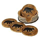 Bear and Birch Lodge Coaster Set - 5 pcs - Wilderness Dining Tableware