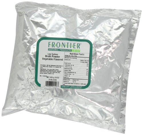 Low Sodium Soup Base - Frontier Broth Powder, Vegetable Flavored (low Sodium), 16 Ounce Bag
