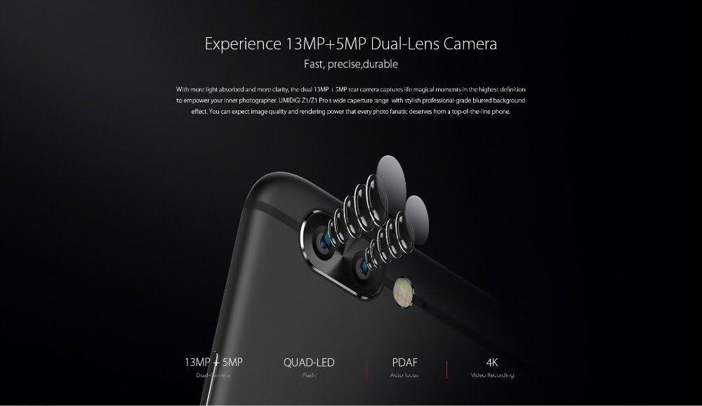 UMIDIGI Z1 - Ultra Fino Android 7.0 Smartphone, MT6757 2.3GHz Octa ...