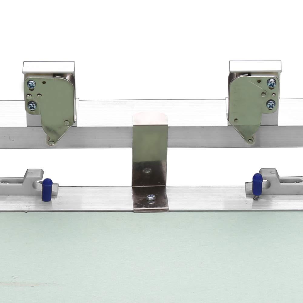 Hengda Revisionsklappe Aluminium-Rahmen 300 300mm mit 12.5 mm Gipskarton GK-Einlage ABS-Kunststoff mit Gr/ün impr/ägniert f/ür Feuchtr/äume geeignet