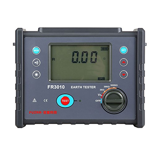 Tower Digital Lcd Line - Simple Use Wholesale Factory 0~3000 Ohm Large LCD Voltage Meter Measurement FR3010 Digital Ground Resistance Earth Megger Tester