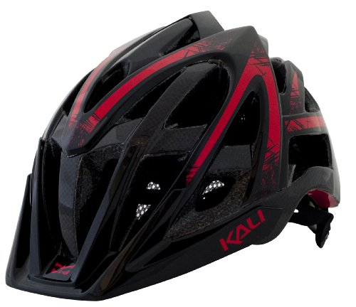 Kali Protectives Spin Avana Helmet, Black/Red, Small/Medium