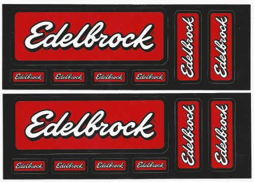 Edelbrock Racing Decals Stickers Sticker Sheets of 7 Set of ()