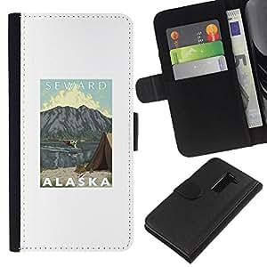 All Phone Most Case / Oferta Especial Cáscara Funda de cuero Monedero Cubierta de proteccion Caso / Wallet Case for LG G2 D800 // Mountains State Seward Usa Nature