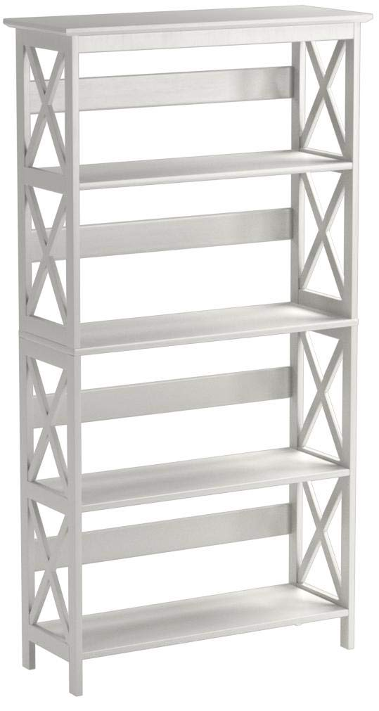 Convenience Concepts Oxford 5-Tier Bookcase, White