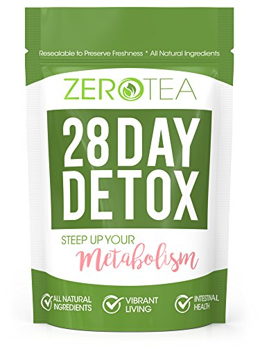 Zero Tea 28 Day Detox Tea, Teatox Herbal Tea For Cleanse