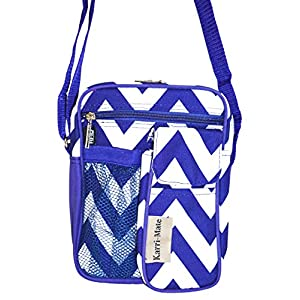 Karri-Mate Purple Chevron Hipster Crossbody Daypack 7-inch