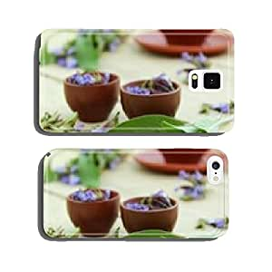 sage flowers and leaves cell phone cover case Samsung S6