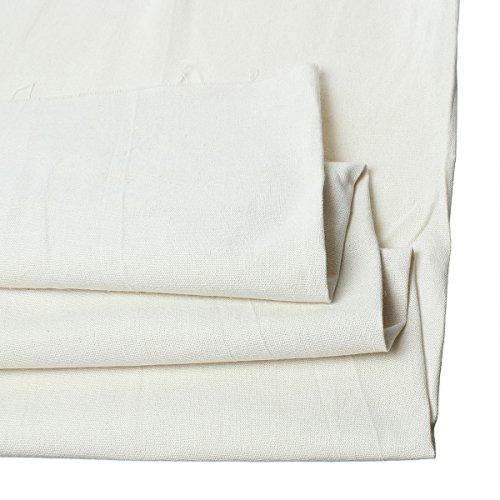 (Cotton & Linen Fabric Off-white 150cm x 92cm(59