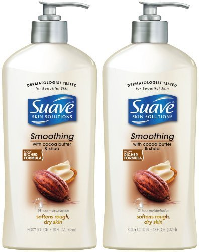 - Suave Smoothing Body Lotion with Cocoa Butter & Shea - Smoothing with Cocoa Butter & Shea - 18 oz - 2 pk