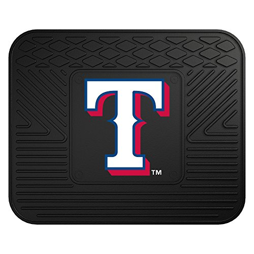 CC Sports Decor MLB Texas Rangers Heavy Duty Rear Car Seat Utility Mat