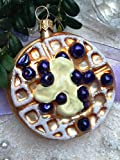 Blueberry Waffle Cake Pie Glass Handmade Christmas Ornaments Hangers Decoration Fruit Kitchen
