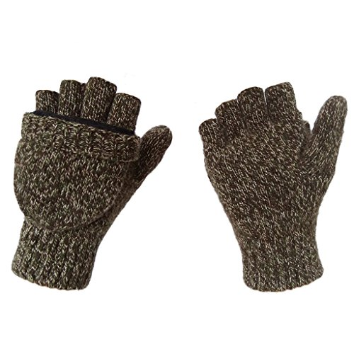 LETHMIK Wool Knitted Gloves Unisex Fingerless Texting Mit...