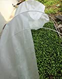 4X20Ft Agfabric Grow Tunnel,Mini Greenhouse, Hoophouse Kit, 0.9oz Floating Row Cover+1/4″Dia Hoops