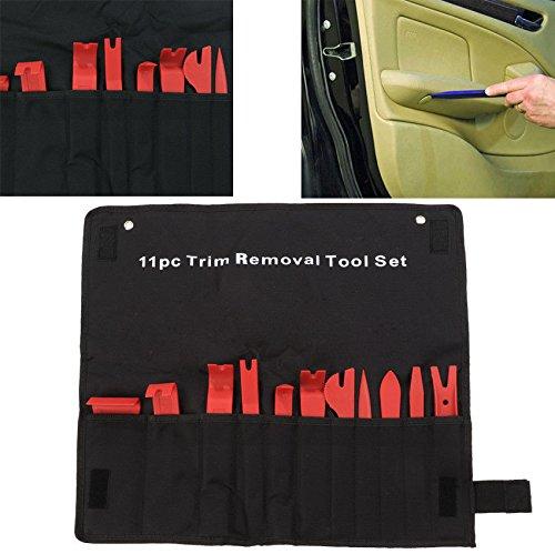 Marketworldcup-11Pcs PROFESSIONAL Car Door Trim Panel Clip Retainer Removal Pry Tool Kit Set
