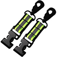 Firefighter Glove Strap | Glove Holder with Glove Leash Swivel Snap Hook,Reflective Hi-Vis Lime for Quick Access All Style Find in Melo Tough (2 Set Alligator clip-Lime color)