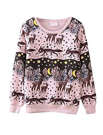 Pink Cotton Round Neck Hoodie & Sweatshirt For Unisex