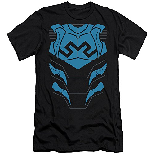Blue Lantern Flash Costume (Justice League Of America DC Comics Blue Beetle Armor Costume Adult Slim T-Shirt)