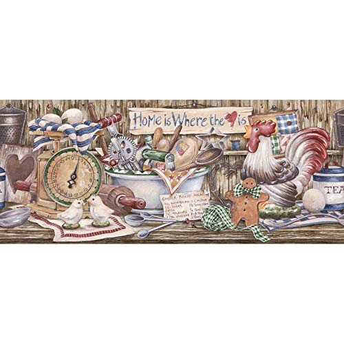 Decorate By Color Blue Country Kitchen Shelf Border BC1580434