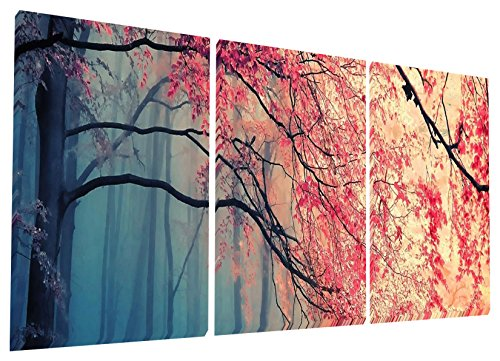 Gardenia Art - Red Maples Canvas Prints Wall Art Stretched and Framed...
