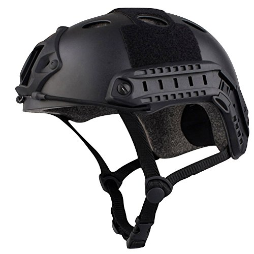 Airsoft-Tactical-SWAT-Helmet-Combat-Fast-Helmet-with-Protective-Black