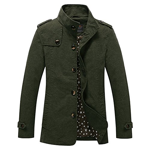 Spreaders Parts Catalog (H.T.Niao Jacket8525C1 Men 's Fashion Long Casual Jackets(Army Green,Size L))