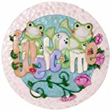Spoontiques Frogs with Welcome Stepping Stone