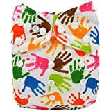 Alva Baby New Design Reuseable Adjustable Washable Pocket Cloth Diaper Nappy + 2 Inserts YA135-EU