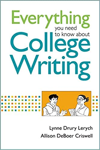 Amazon everything you need to know about college writing everything you need to know about college writing first edition edition fandeluxe Gallery