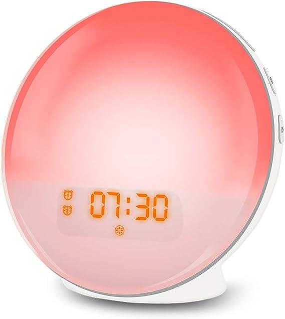 Wake Up Licht Lichtwecker LED Nachtlicht Kinderwecker USB Aufladen FM Radio DHL