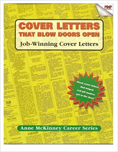 Cover Letters That Blow Doors Open: Anne McKinney: 9781475094336 ...