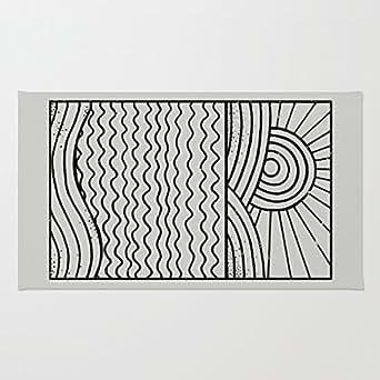 Teléfonos fijos negro y blanco coral Felpudo de terciopelo, Uso En Interiores/al aire libre Floor Mat