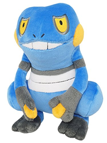 (Sanei Pokemon All Star Collection - PP45 - Croagunk Stuffed Plush, 7.5