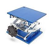 Lift Table Aluminium Oxide Lab Stand Lifter Scientific Scissor Lifting Jack Platform (4''x4'')