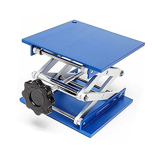 Lifter Flex (Lift Table Aluminium Oxide Lab Stand Lifter Scientific Scissor Lifting Jack Platform (4''x4''))