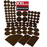 Furniture Pads for Wood Floors X-PROTECTOR Premium XXL SIZES Furniture Pads! BIG SIZES of Heavy Duty Felt Pads Furniture Feet – Your Best Wood Floor Protectors. Protect Your Hardwood & Laminate Flooring From Heavy Furniture!