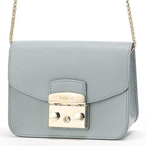 1fadb797fe70 Amazon | フルラ(FURLA) メトロポリスミニクロスボディショルダーバッグ【グレイッシュブルー/**】 | Amazon Fashion