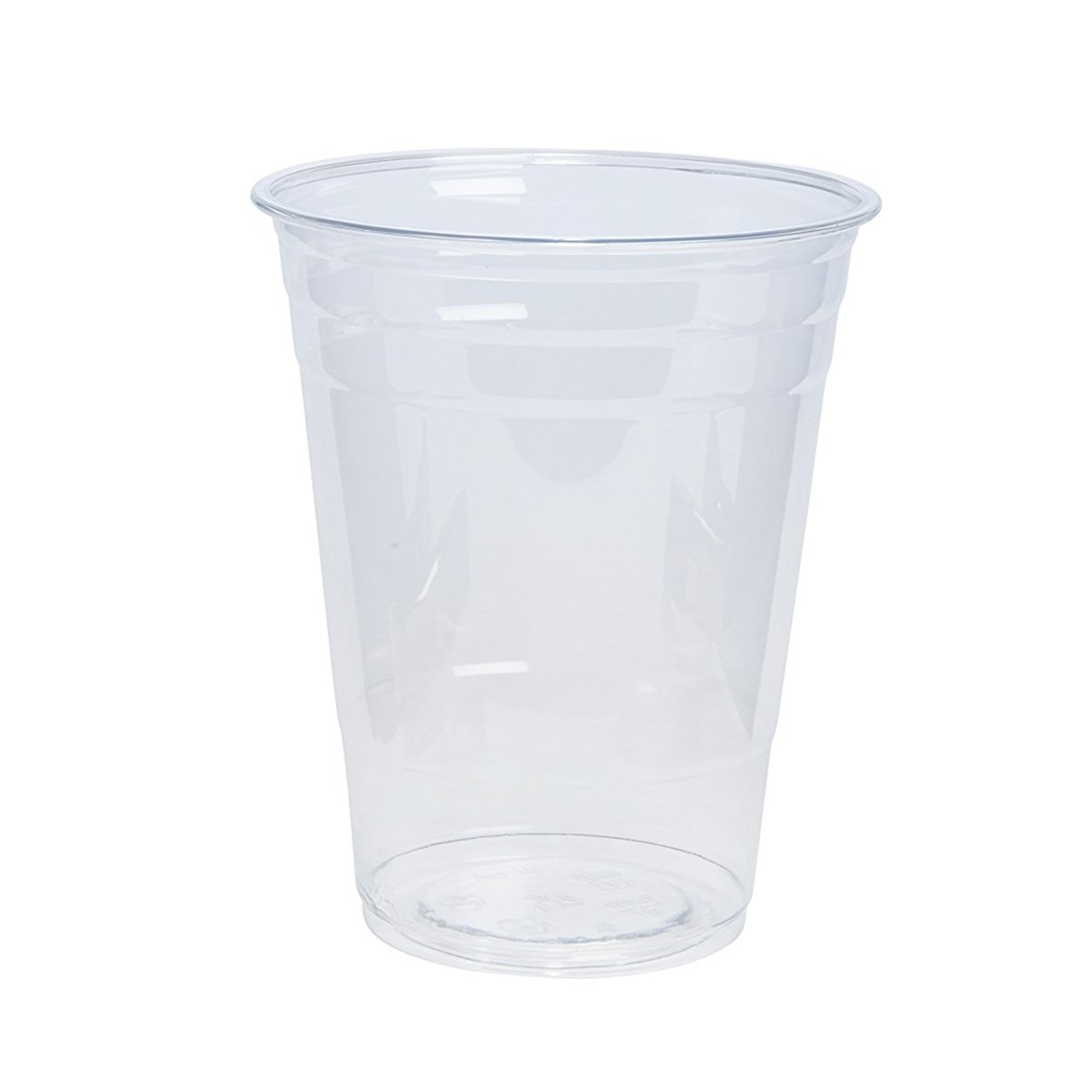 100 Sets 16 oz. Plastic CRYSTAL CLEAR Cups with Flat Lids [by COMFY PACKAGE] for Cold Drinks, Iced Coffee, Bubble Boba, Tea, Smoothie etc. by Comfy Package (Image #2)