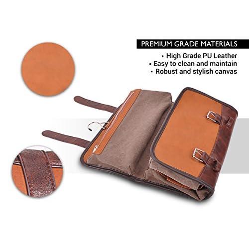 Vetelli Hanging Toiletry Bag for Men - Dopp Kit   Travel Accessories Bag    Great Gift 07478e2c551ae