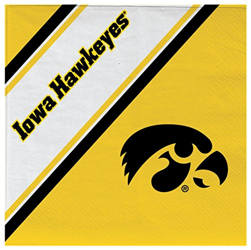 NCAA Iowa Hawkeyes Disposable Paper Napkins, Pack of 20