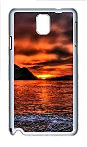 Samsung Galaxy Note 3 N9000 Cases & Covers - Sea Sunset Custom PC Soft Case Cover Protector for Samsung Galaxy Note 3 N9000 - White