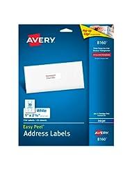 Avery Easy Peel Address Labels for Inkjet Printers 1\