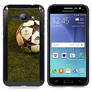 - Soccer Football - - Cubierta del caso de impacto con el patr??n Art Designs FOR Samsung Galaxy J2 Queen Pattern