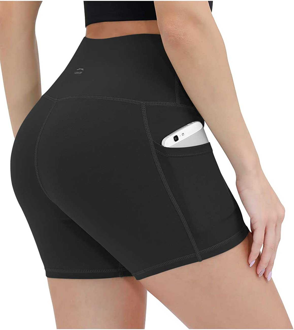 ALONG FIT Yoga Shorts for Women High Waisted Biker Shorts with Pockets
