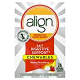 Align Chewables, Daily Probiotic Supplement for Digestive Health, Banana Strawberry Flavor, 24 count