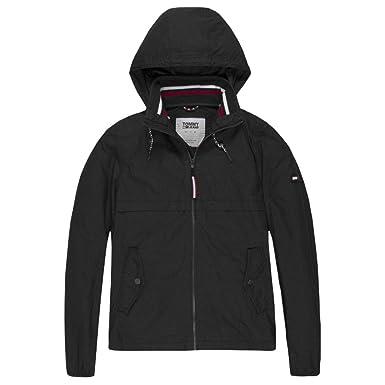 a6e20b09293a4 Tommy Hilfiger TJM Essential Anorak Parka Homme Noir Taille XS ...