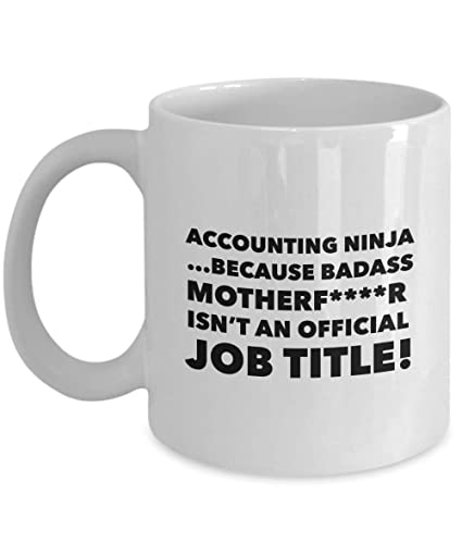 Amazon.com: Accounting Ninja Mug - Coffee Mug Gifts For CPA ...