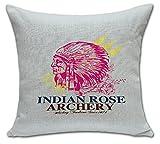 ChezMax Indian Skull Stuffing Throw Pillow Cushion Cotton Linen Square Insert For Women Teen Girl Yoga Dance