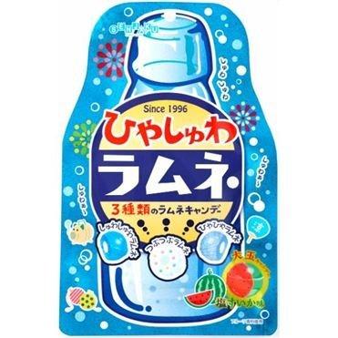 Senjaku - Hiyasyuwa Ramune Soda Candy - 2.6 Oz (4 Flavors) - Japanese Sour Fizzy ()